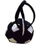 "Чанта ""Футболна топка"" - черна"